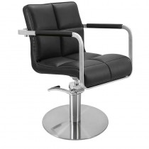 Lotus Caplan Black Styling Chair With Round Base