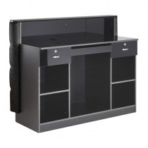 Lotus Apollo Reception Desk Black Gloss