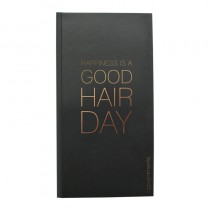 Agenda Appointment Book 3 Column Black + Rose Gold