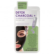 Skin Republic Detox Charcoal+ 10 Superfood Formula Face Sheet Mask