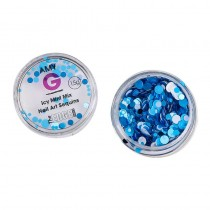 Amy G Icy Mint Mix Nail Art Sequins 1.5g by The Edge
