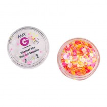 Amy G Sherbet Mix Nail Art Sequins 1.5g by The Edge