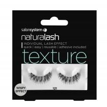 Salon System Naturalash 121 Black Texture Wispy Effect Strip Lashes