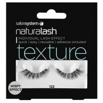 Salon System Naturalash 122 Black Texture Wispy Effect Strip Lashes