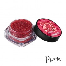 Prima Makeup Strawberry Fizz Klay Glitter Buff Sparkling Lip Scrub