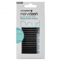 Marvelash D Curl 0.07 Extra Fine Assorted Lengths Black by Salon System