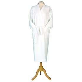Large Kimono Waffle Robe White