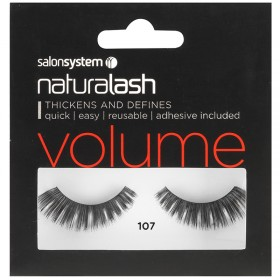 Salon System Naturalash Strip Eyelashes 107 Black