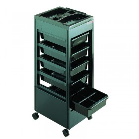 REM Studio Trolley Black with Accessory Top Tray