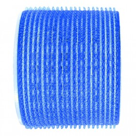 Sibel Jumbo Velcro Rollers Dark Blue 80mm x 3