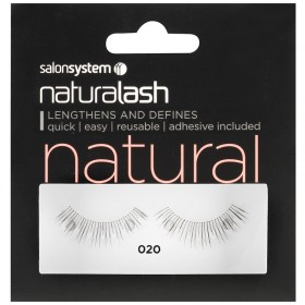 Salon System Naturalash Strip Eyelashes 020 Black