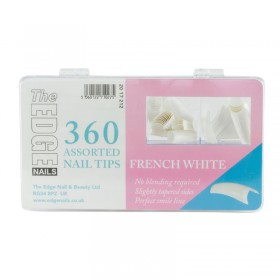 The Edge French White Tips x 360 Assorted (Boxed)