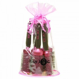 Head Jog Oval Bag Pink Brush Set