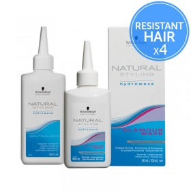 Schwarzkopf Natural Styling Hydrowave Glamour Wave 0 Pack of 4 Perms