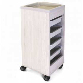 REM Stadium Trolley Moonlight with White Flat Top & Trays
