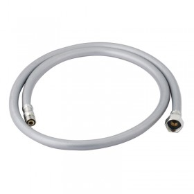 Silver Grey Hose 1.2m with Male and Female Fittings
