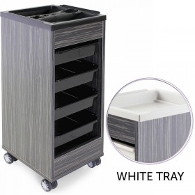 REM Stadium Trolley Dusk with White Flat Top & Trays