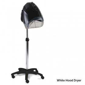 REM Elan Next Generation White Mobile Hood Dryer with Pole + Base
