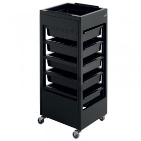 Lotus Jet Salon Equipment Trolley Black