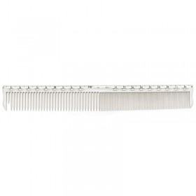 YS Park YS G45 Extra Long Fine Cutting Comb with Guide White