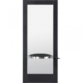 Lotus Tulsa Single Mirror Unit Black