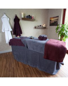 BC Softwear Serenity Waffle Couch Cover Slate Grey 200x240cm