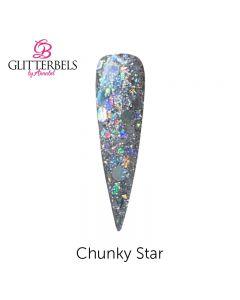Glitterbels Pre Mixed Glitter Acrylic Powder 28g Chunky Star