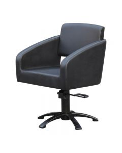 Lotus Padstow Black Styling Chair With 5 Star Base