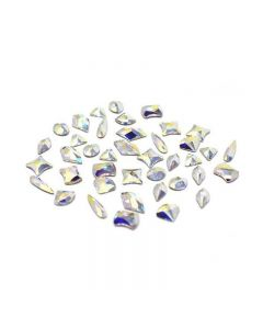 Swarovski Crystals for Nails Crystal AB Shapes Mix x 40