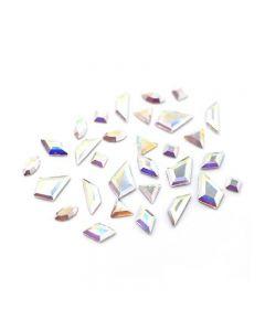 Swarovski Crystals for Nails Crystal AB Mini Shapes Mix x 30