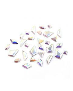 Swarovski Crystals for Nails Crystal AB Mini Shapes Mix x 60