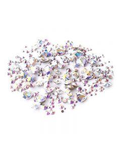 Swarovski Crystals for Nails Crystal AB Stone Mix x 300