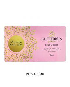 Glitterbels Clear Stiletto Assorted Nail Tips x 500