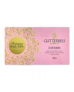 Glitterbels Clear Almond Assorted Nail Tips x 500