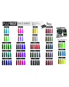 Pulp Riot Paint by Numbers Shade Card Poster