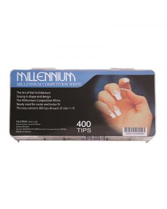 Millennium Competition White Nail Tips Box of 400