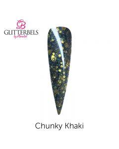 Glitterbels Pre Mixed Glitter Acrylic Powder 28g Chunky Khaki