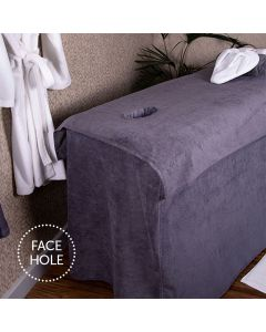 BC Softwear SupremeSoft Couch Cover With Face Hole Slate Grey 70 x 200cm