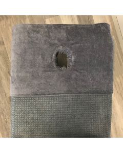 BC Softwear SupremeSoft Header Towel With Face Hole Slate Grey 50 x 70cm