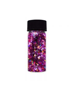 World Of Glitter Sirius Lavender Holographic Stars Nail Shapes 3g