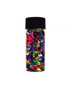 World Of Glitter Cloverland Butterflies Colour Mix Nail Shapes 6g