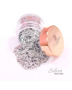 Glitterbels Loose Glitter 15g Silver Medium