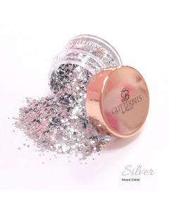 Glitterbels Loose Glitter 15g Silver Mixed