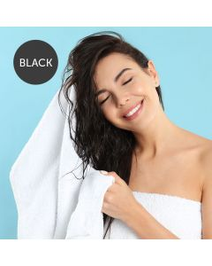 SkinMate Disposable Premium Black Towels Pack of 50 40cm x 80cm 60gsm