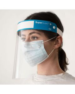 SuperGuardPRO Face Shield Visor Mask Pack of 4