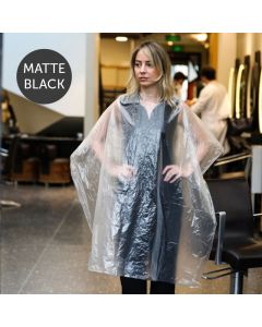 Disposable Hairdressing Gowns Black Pack of 50 100cm x 140cm