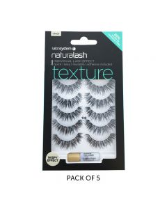 Salon System Naturalash 109 Black Texture Strip Lashes Multipack x5