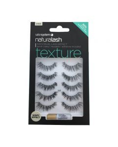 Salon System Naturalash 117 Black Texture Strip Lashes Multipack x5