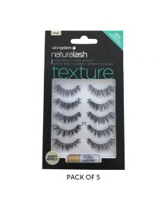 Salon System Naturalash 117 Black Texture Strip Lashes Multipack x5