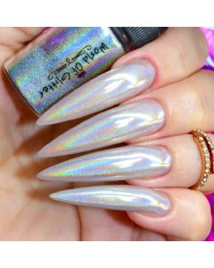 World of Glitter Galaxy Silver Holographic Nail Dust 1g